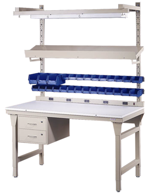 Heavy-Duty Workstation Equipped for Assembly and Manufacturing