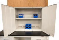 Wall-Mounted Cabinet showing adjustable shelving