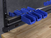 Plastic Bin Mounting Rail Detail