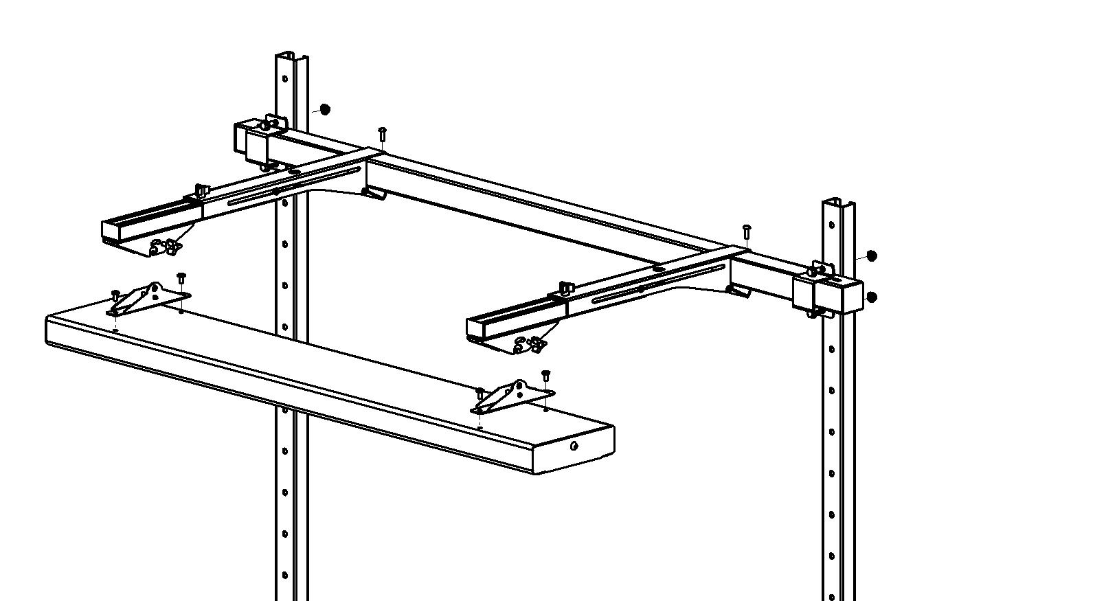 Light suspension system diagram