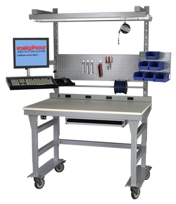 Mobile Heavy-Duty Workstation with Accessories