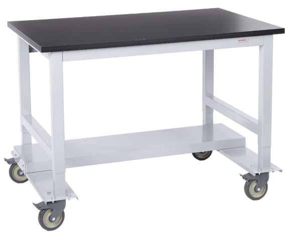 Mobile Standard Workstation with Shelf