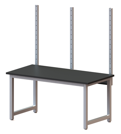 Center mounted solid upright overtable mount