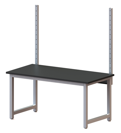Solid upright overtable mount
