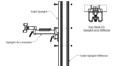 Solid upright stiffener plate diagram