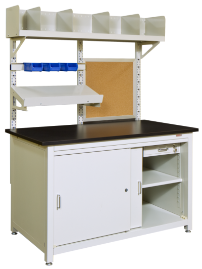 Storage Workstation with Overtable Accessories