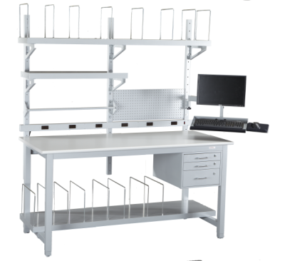 Packing and Shipping Station with Wire Dividers