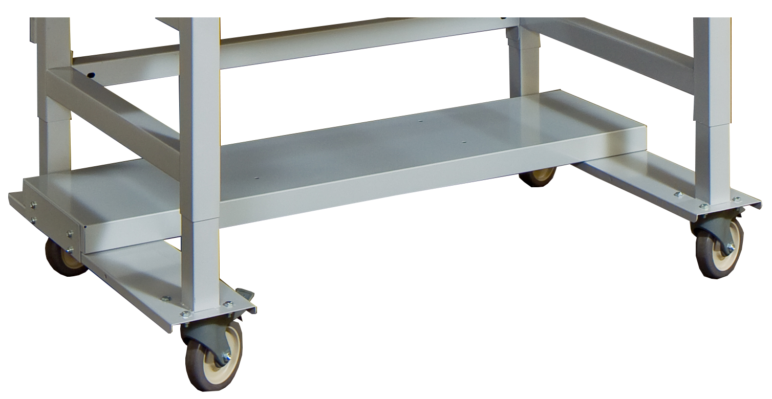 Mobile shelf plate for mobile workstations