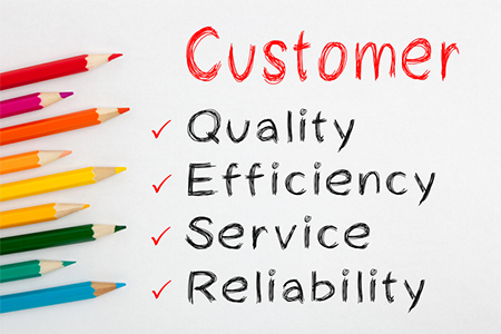 Checklist of customer satisfaction factors